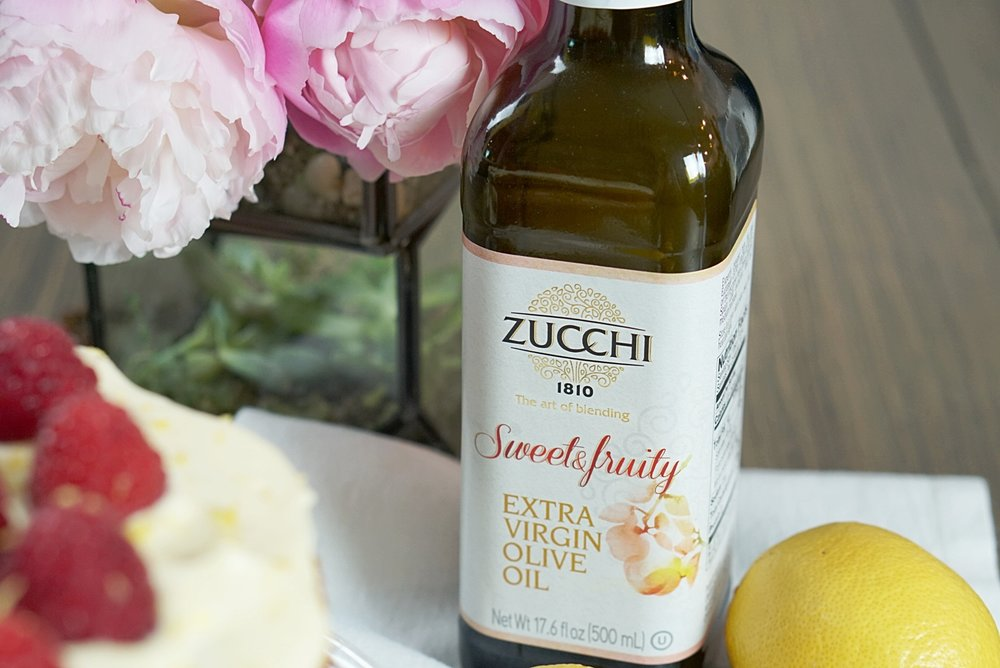 Lemon Olive Oil Cake with Lemon Curd, Raspberries, and Mascarpone Lemon Cream | coupleinthekitchen.com
