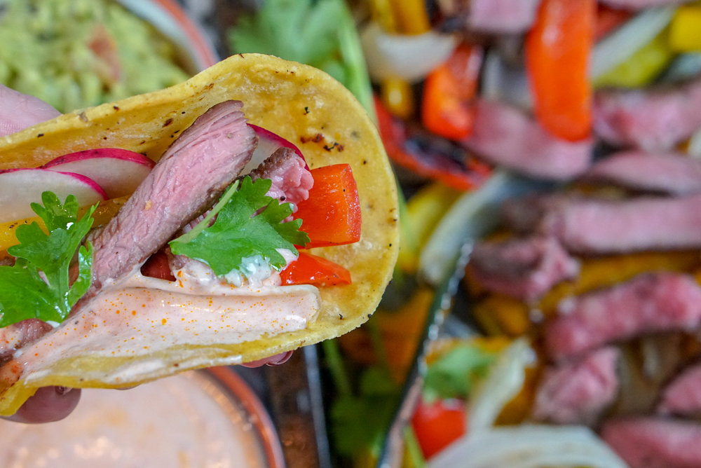 Healthy Lamb Recipe | Easy, Mediterranean Lamb Fajitas | coupleinthekitchen.com