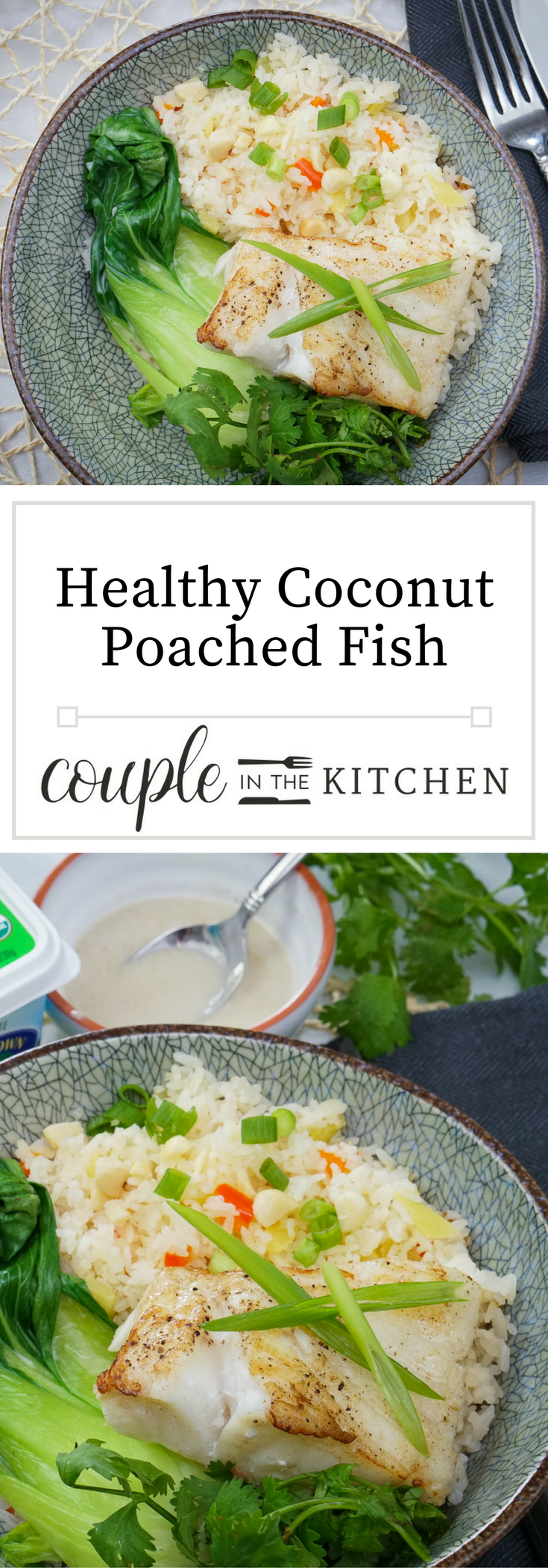 Healthy Coconut Poached Fish | coupleinthekitchen.com