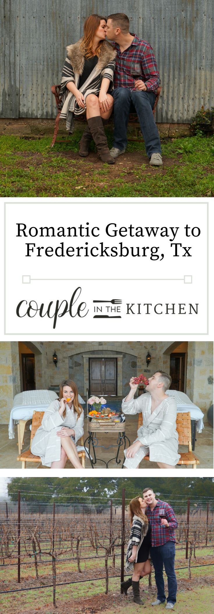 A Romantic Getaway to Texas Wine Country — Couple in the Kitchen