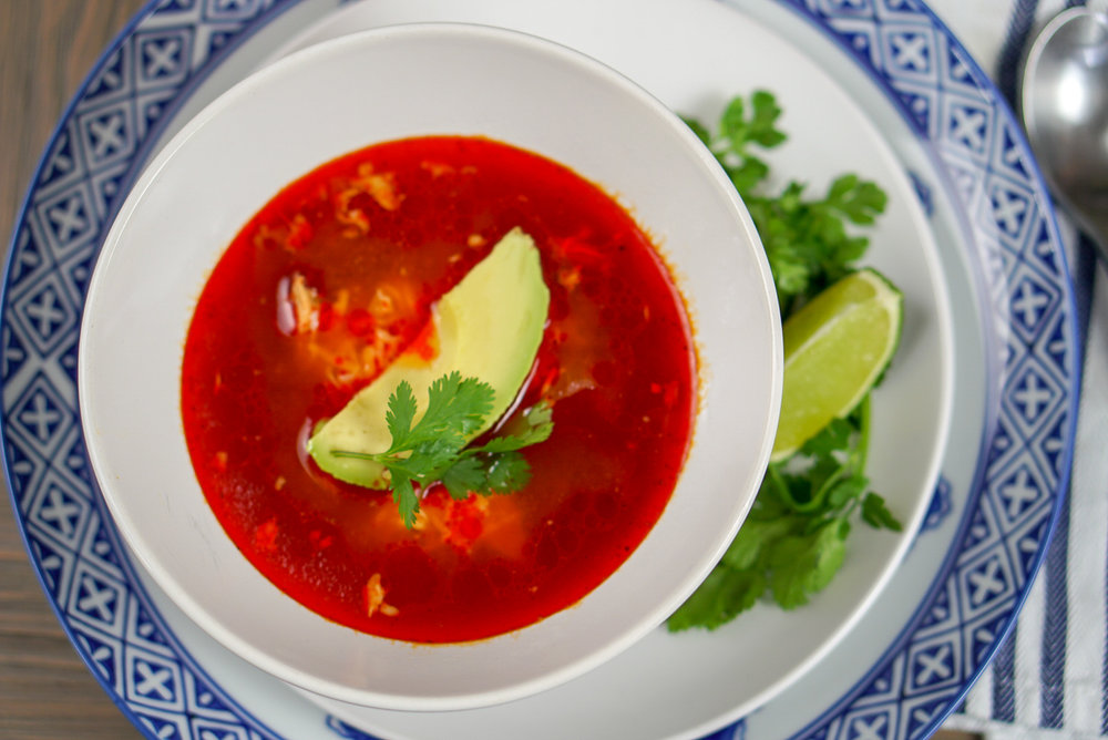 Chicken Enchilada Soup | coupleinthekitchen.com