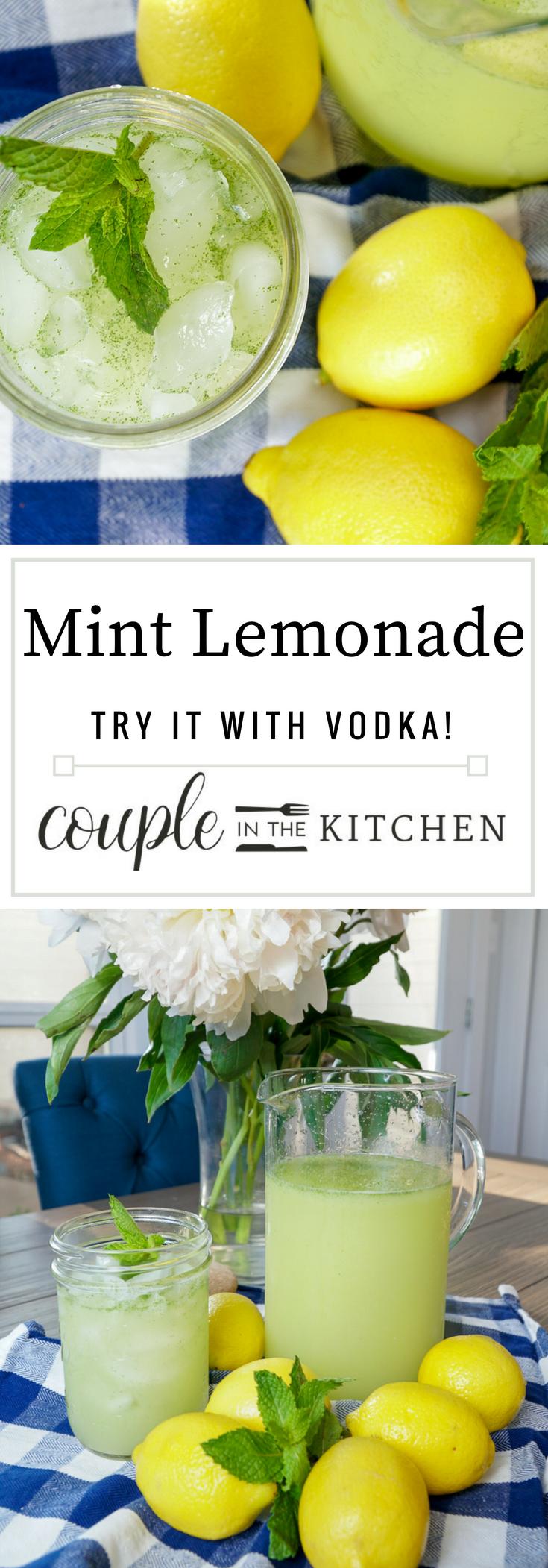Mint Lemonade Recipe | coupleinthekitchen.com