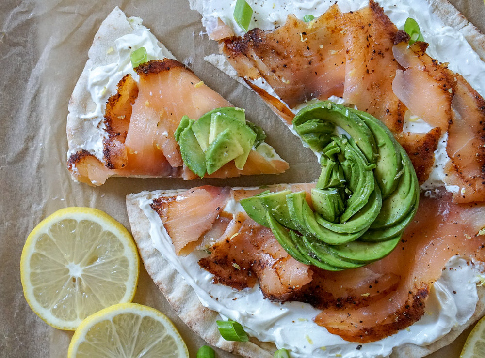 Smoked Salmon Breakfast Pizza | coupleinthekitchen.com