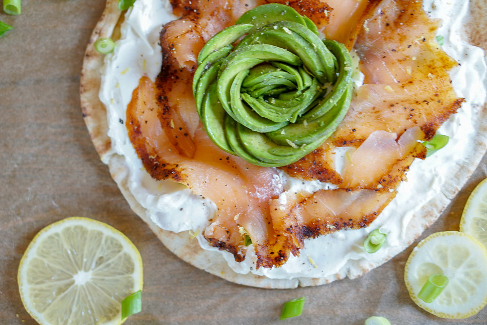 Smoked Salmon and Avocado Breakfast Pizza | coupleinthekitchen.com