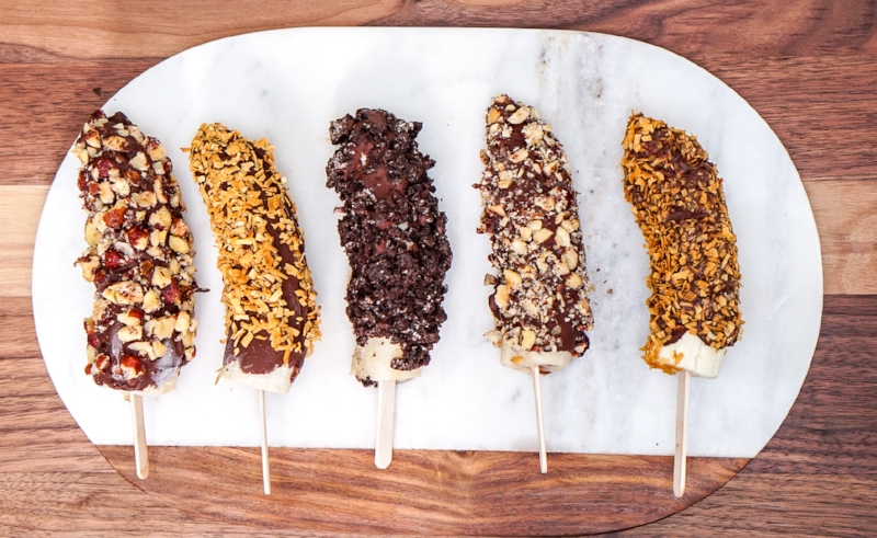 Chocolate Covered Frozen Bananas | coupleinthekitchen.com