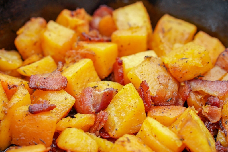 The BEST Butternut Squash & Bacon Recipe | coupleinthekitchen.com