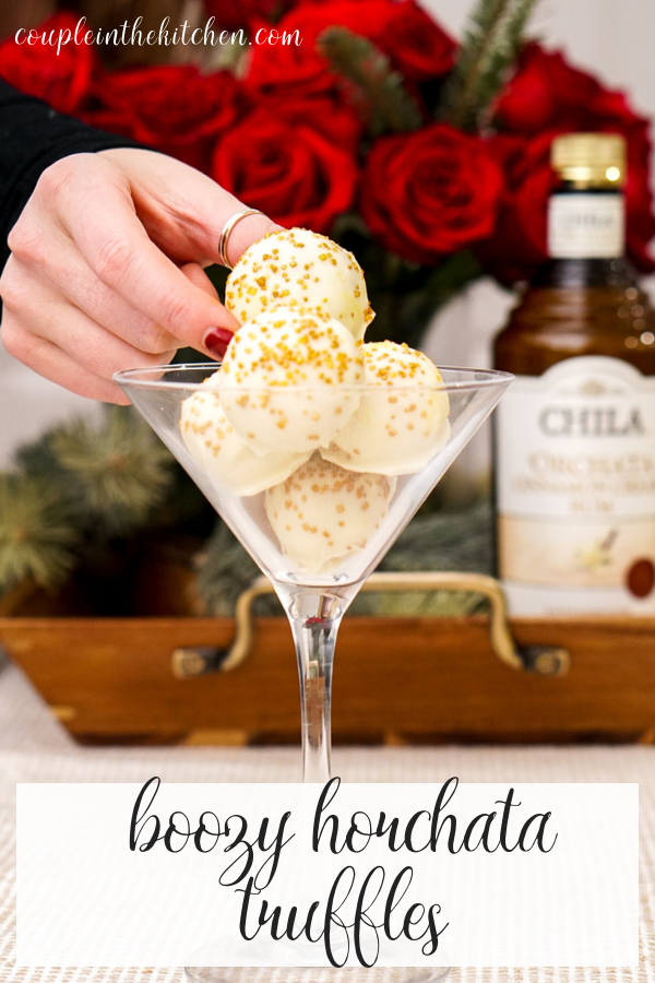 No Bake, Boozy Horchata White Chocolate Truffle Recipe | coupleinthekitchen.com