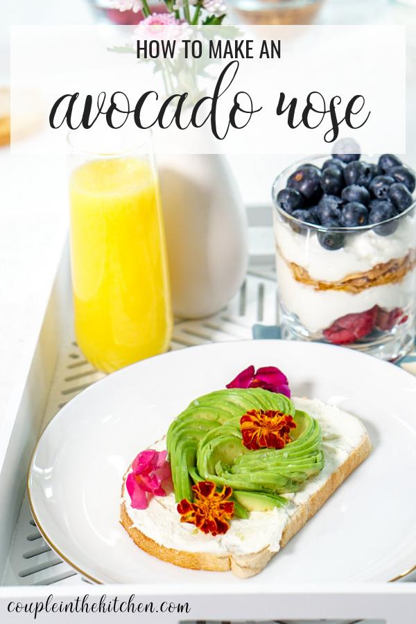 How to Make an Avocado Rose for Avocado Toast   coupleinthekitchen.com