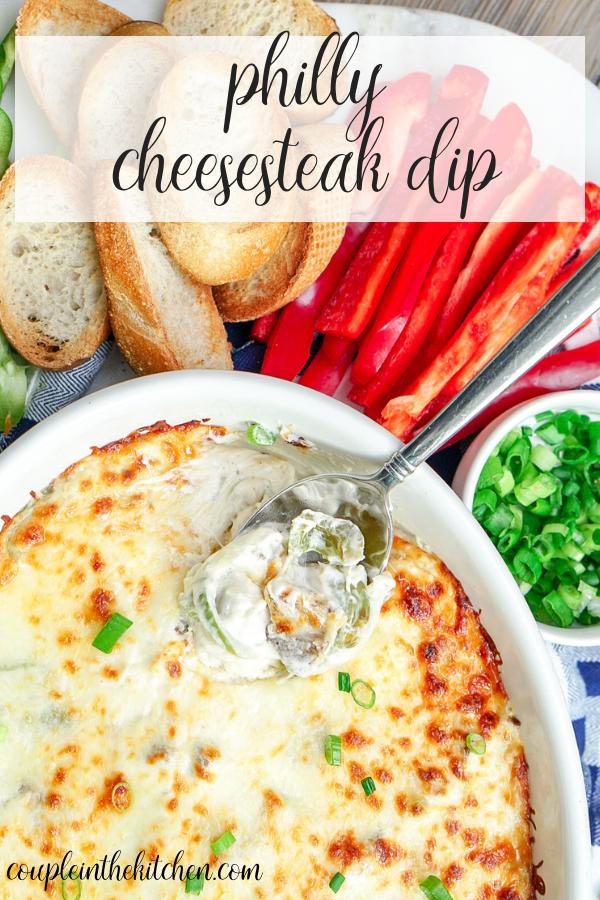 Philly Cheesesteak Dip Recipe | coupleinthekitchen.com
