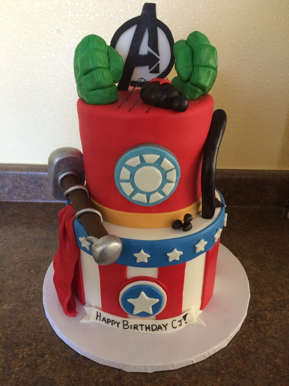 Avengers Cake | Sugar Lab Bake Shop