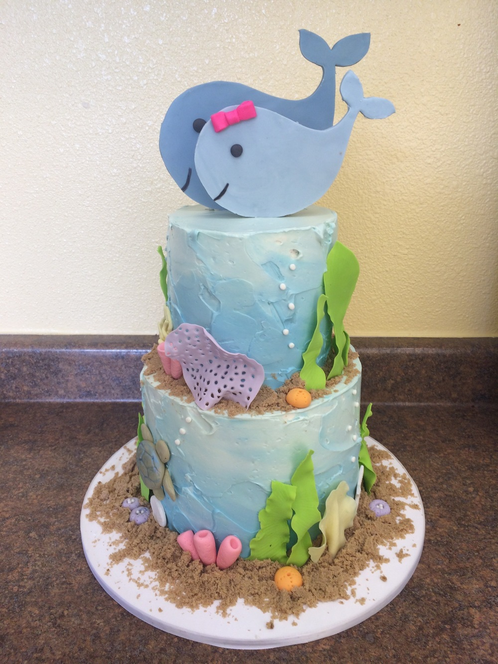 Whale Baby Shower Cake | Sugar Lab Bake Shop