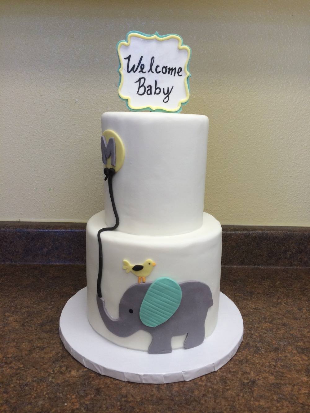 Elephant Baby Shower Cake | Sugar Lab Bake Shop