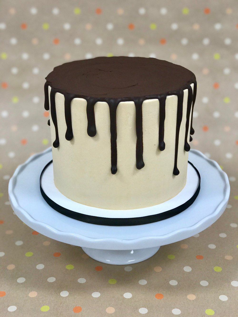 Chocolate Salted Caramel - Cake: ChocolateFilling: Salted Caramel ButtercreamFrosting: Salted Caramel Swiss Meringue Buttercream and Dark Chocolate Ganache