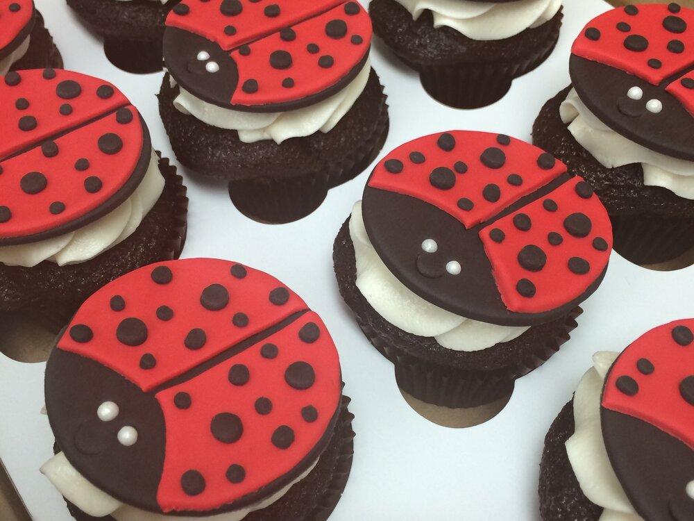 Ladybug Cupcakes | Sugar Lab Bake Shop
