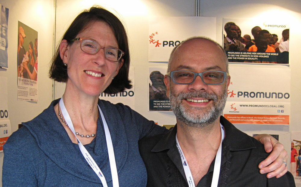 Meg Greene with Marcos Nascimento of Instituto Promundo