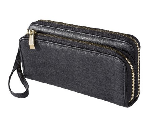 Merona double zipper wallet