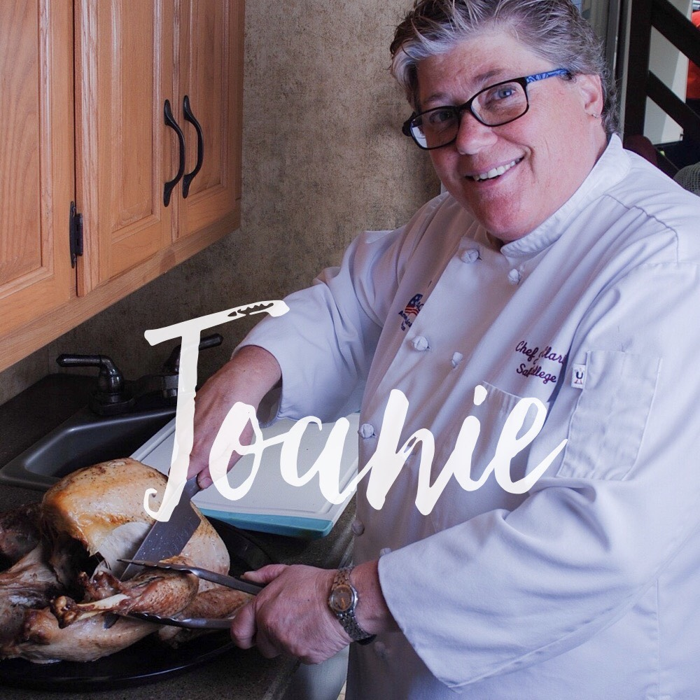 Boston, Massachusetts    Joanie has been a part of the culinary scene in the neighboring areas of Boston and New England for over 30 years. After guest appearances on morning shows, print features and launching her own restaurant, she realized she had an overwhelming desire to do something more. She now teaches future chefs the foundations of flavor and the origins of American regional cuisine.