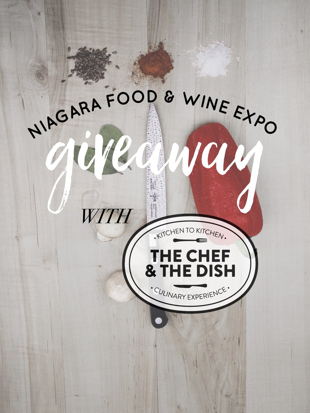 Head over to my Instagram to enter @luciavictoria!     Thanks to The Chef and The Dish I will be giving away 5 pairs of tickets to Niagara Food & Wine Expo! To be eligible to win you must be at least 19 and complete the following:    1. Like my giveaway post and follow me.     2. Follow @thechefandthedish.    3. Comment & tell me: what's your favorite dish to cook at home?     I will notify winners via DM on Saturday, April 8. You'll be able to pick which day of the expo you'd like to attend and your tickets will be held at will call.