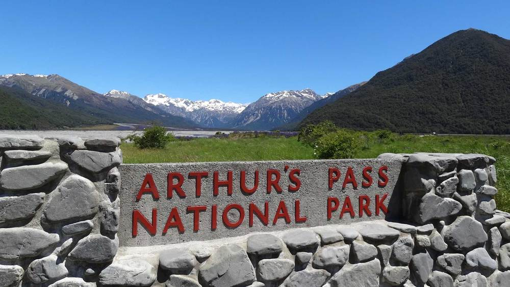 As the sign says... 'Arthur's Pass National Park'