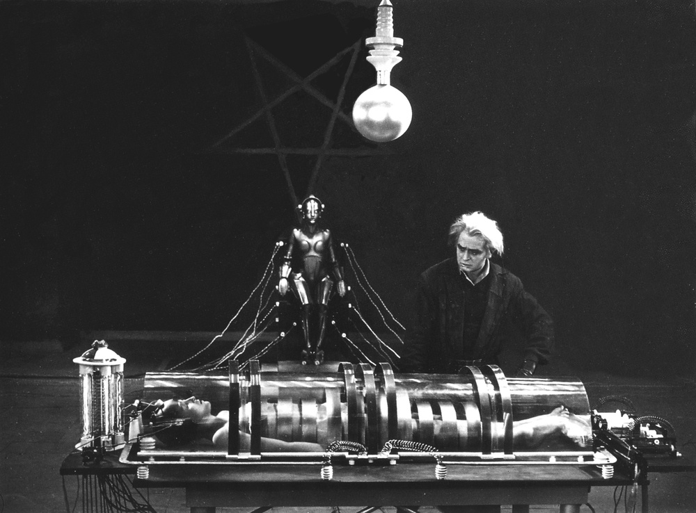 Metropolis (1927) by Fritz Lang. Set in the year 2026, Metropolis portrays the fear of and fascination with technological progress.
