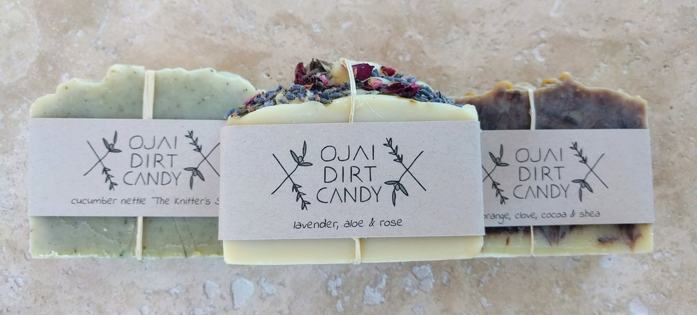 Ojai Dirt Candy handmade soap bars