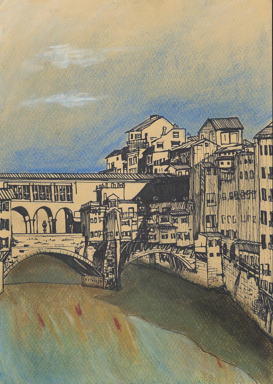 Ponte Vecchio from Ponte Santa Trinita.JPG