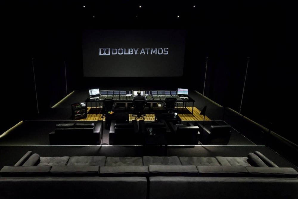 Dolby Atmos Sound Studio. Image taken from the  Soundfirm
