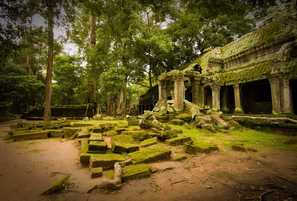 Ta Prohm, one of the most imposing temples that has merged with the jungle