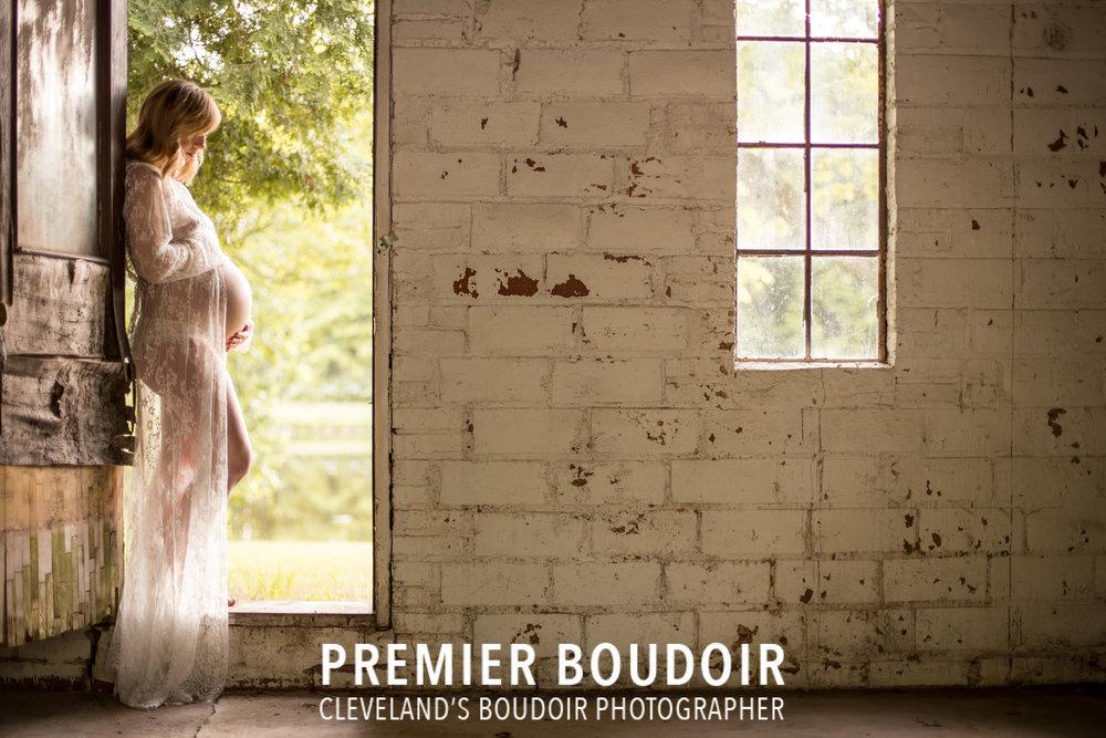 Cleveland + Akron Maternity Boudoir Photographer