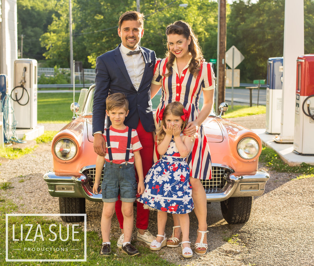 family photography portrait vintage retro pinup  cleveland akron