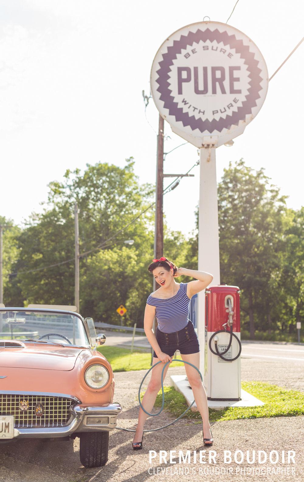 Cleveland + Akron Pinup Boudoir Vintage Retro Photoshoot