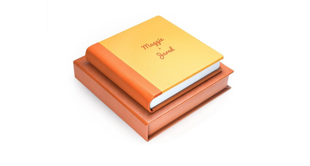 New! Two toned leather album - choice from 8 different colour leathers.