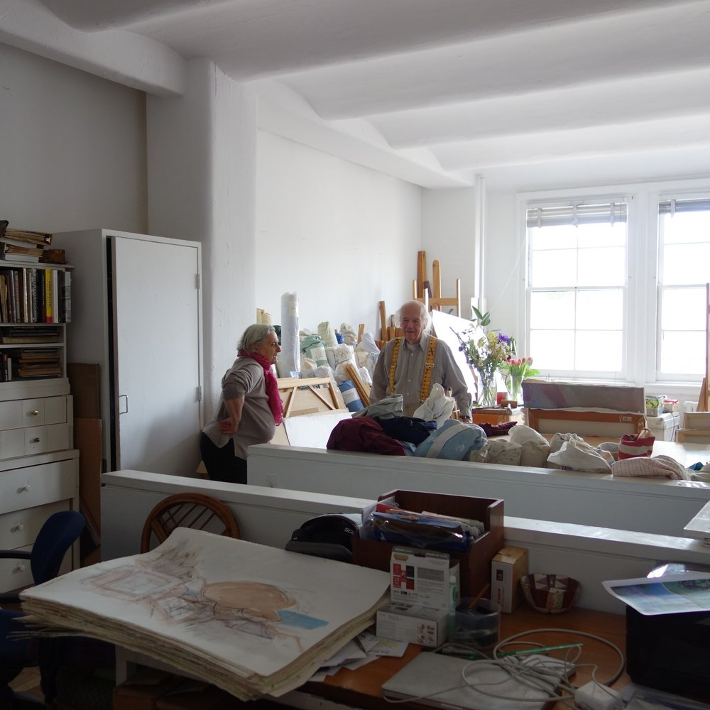 The Ruta's in their Westbeth studio