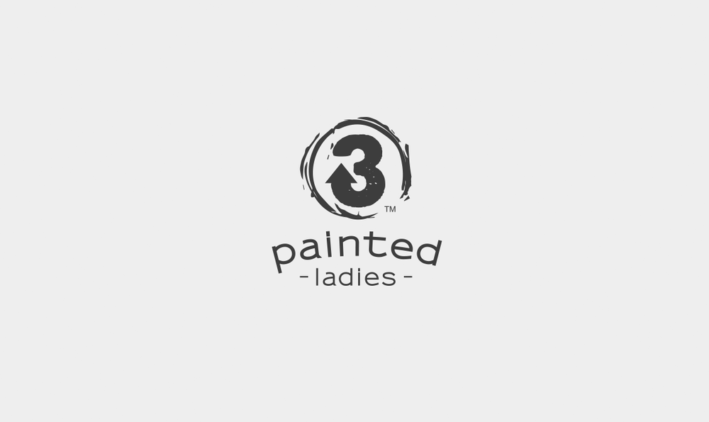 3 Painted Ladies Logo
