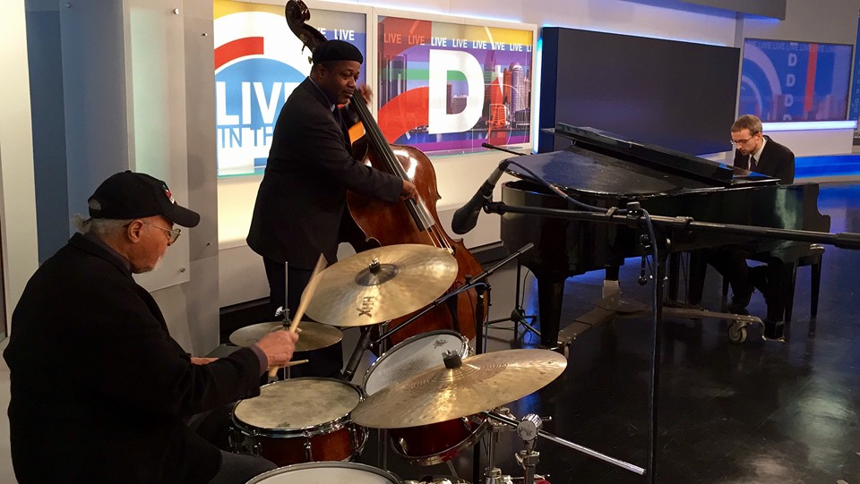 With Jimmy Cobb and Rodney Whitaker on WDIV Detroit
