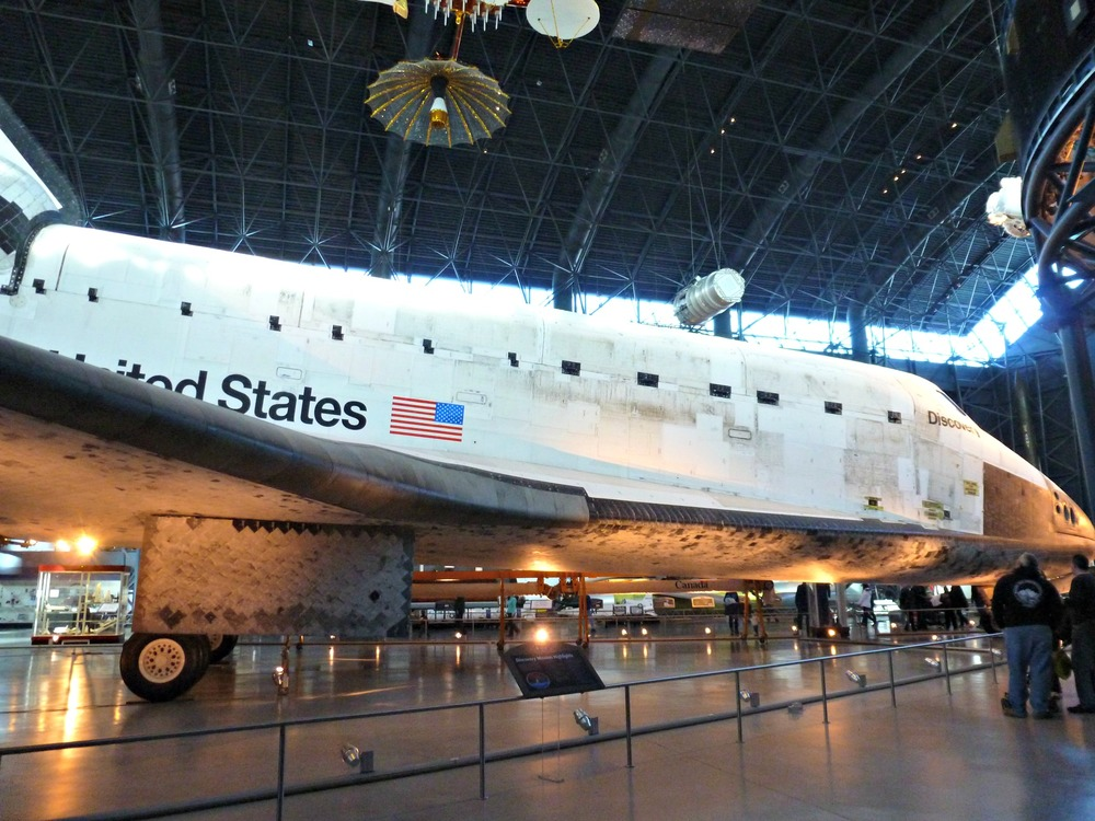 The Space Shuttle Discovery at the Air & Space Museum in Dulles, VA