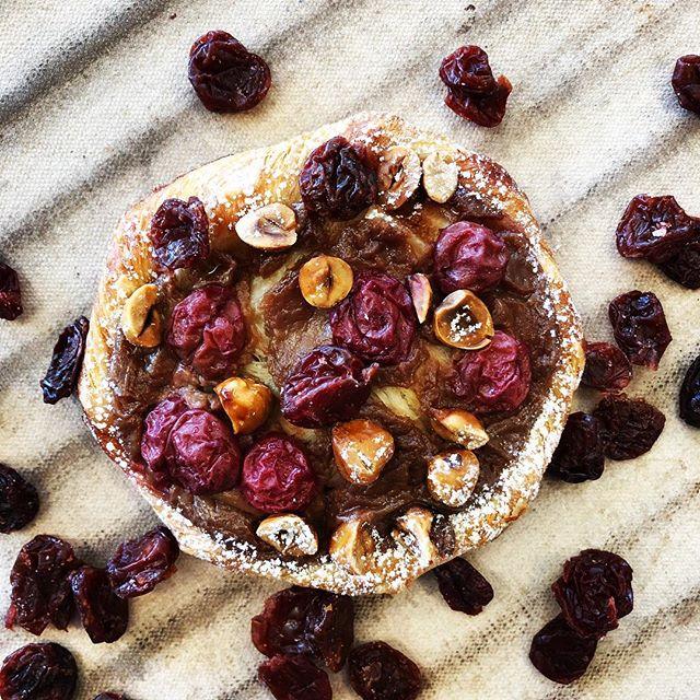 The new seasonal danish: Hazelnut Cherry Chocolate starts today!  #rusticabakery #chocolate #bakerylife