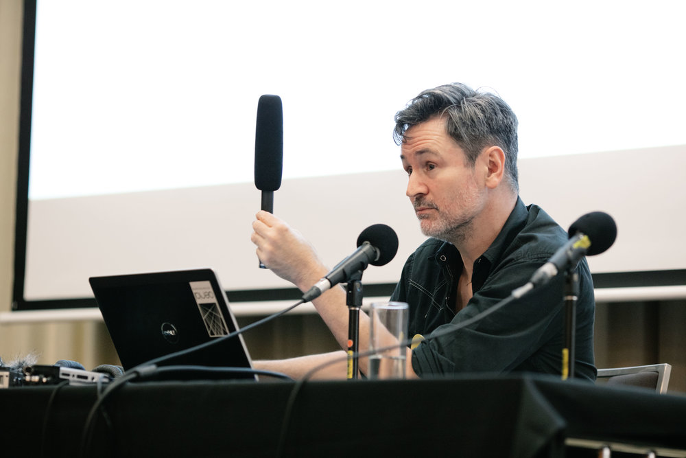 Pictured: Stephen Tilley at Audiocraft Conference 2017. Photo by Bryce Thomas.