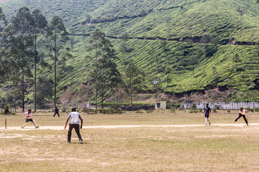 Cricket game in Munnar.