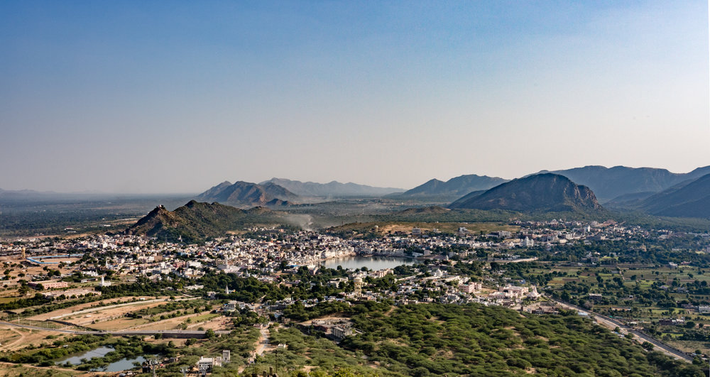 View of Pushar from the Savitri Temple.