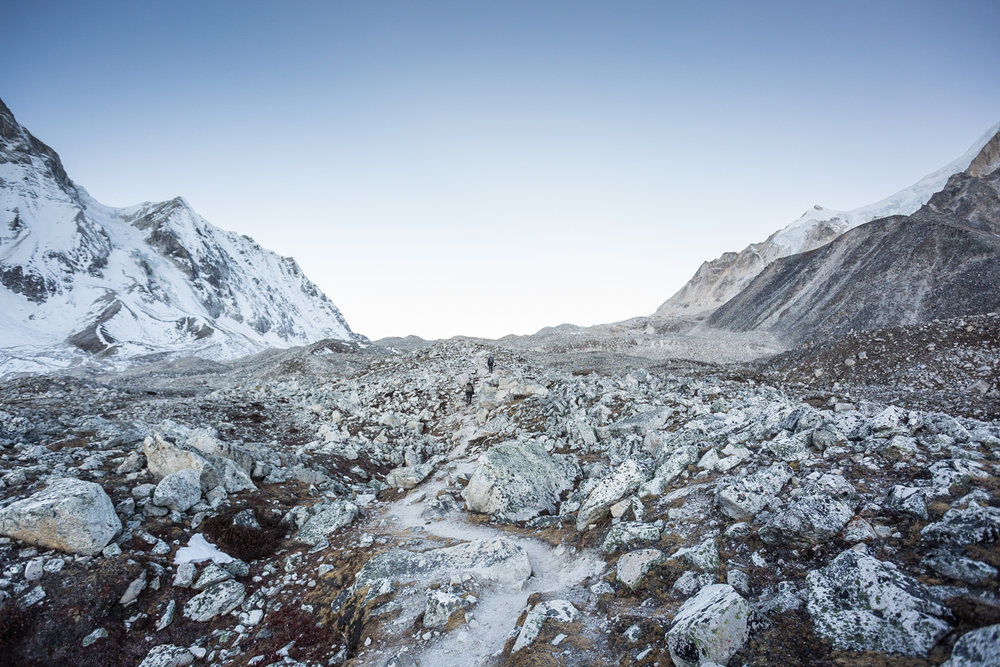 The Larke pass, a glacial saddle 5,106 meters above sea level.