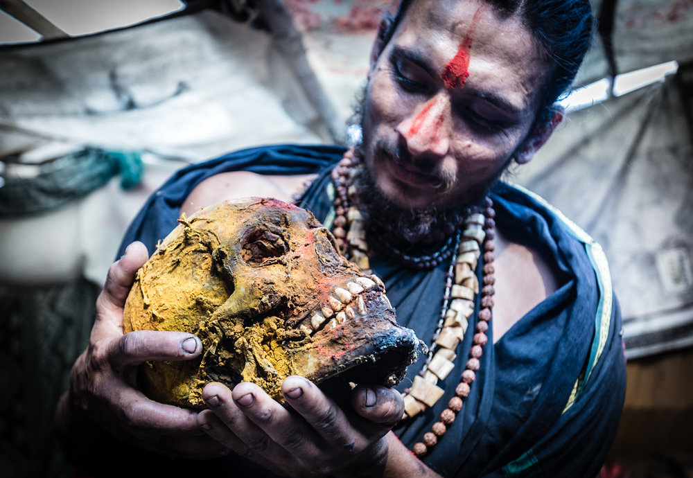 "Aghori sadhus (Hindu monks or ""holy men"") engage in cannibalism and other post-morten rituals. This sadhu travels annually to an Ashram located on the banks of the Ganges river where the Aghoris recite mantras to bring corpses forth from the river. The corpses are then cleaned and eaten, raw."