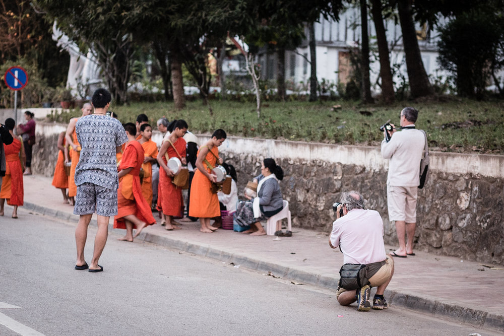 Tourists have become a real annoyance for the monks in Luang Prabang.