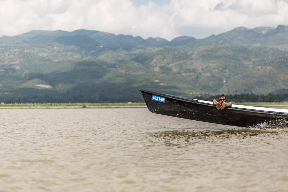 The last leg of the trip was a scenic boat ride across Inle lake to the town of Nyaungshwe, the tourist nexus for Inle.