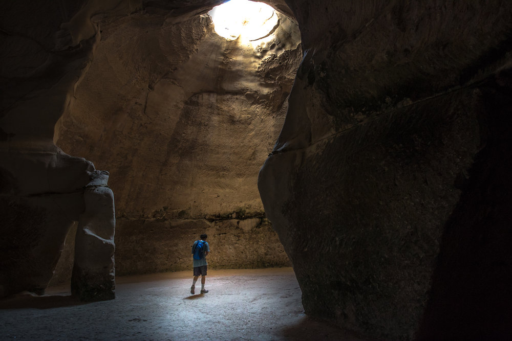 Bell cave at Beit Guvrin National Park, Israel, August, 2016.
