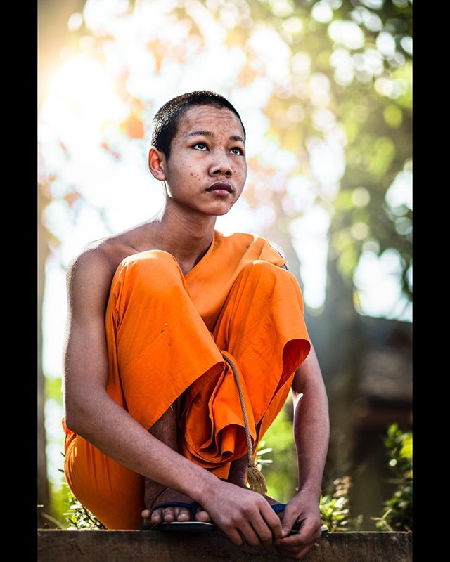 Wat Mahathat, Luang Prabang, Laos #monk #buddhism #portrait #travel #laos #indochina  #aow