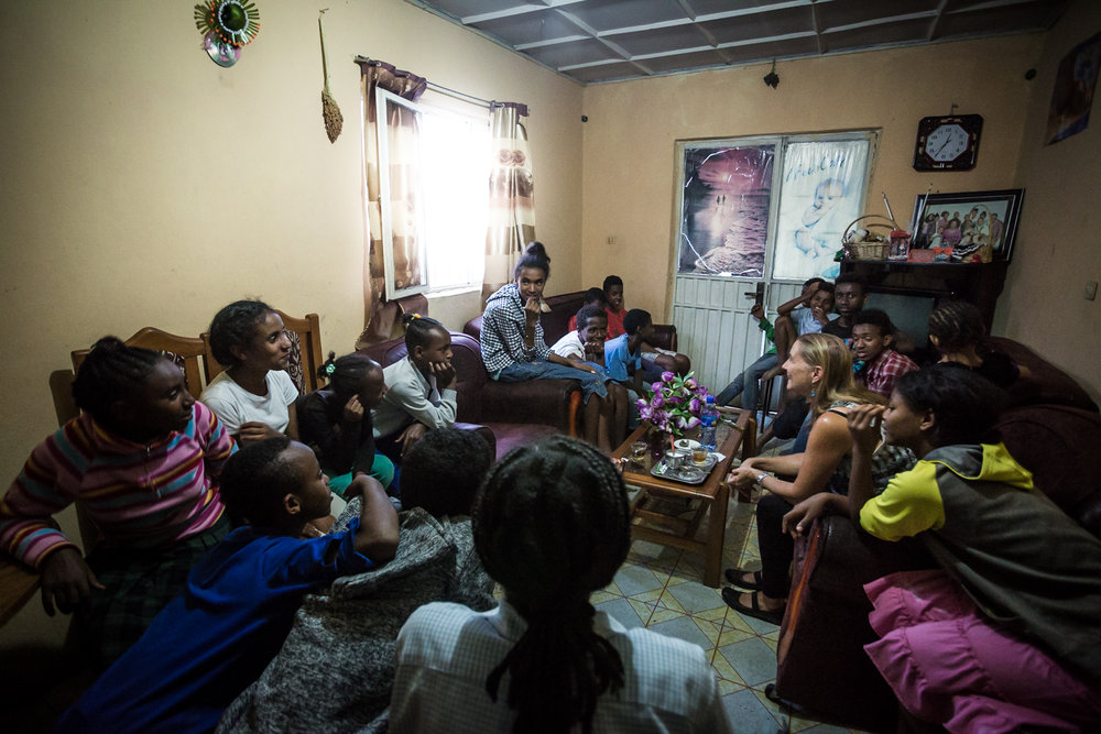 Claudia, GFI's co-founder, running a seminar with the Origins Homes kids. The Origins Homes program provides a small group home to 20 children who are orphans or whose family are unable look after them.