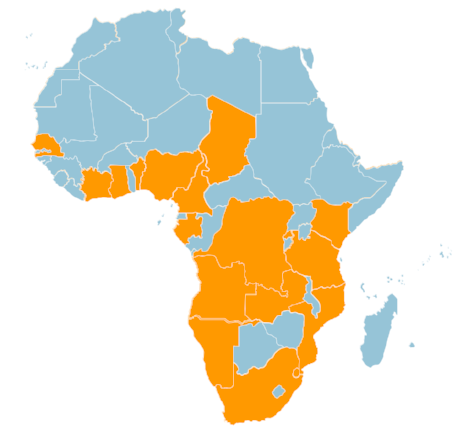 Our team has experience working across 18 countries in Africa