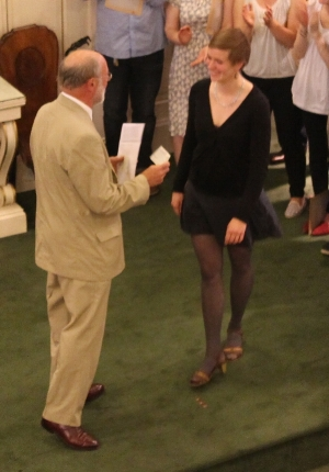 Kira Hasche was given the RAB Special Award of £1000.