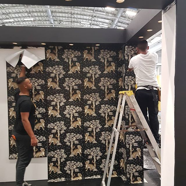 Busy setting up for the Homsmakers Expo in Cape Town# interiors #interiordesign #st leger and viney # wallpaper